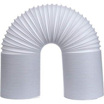 Asdomo - Tubo de Escape para Aire Acondicionado (13/15 cm, PVC reemplazable), White 2m, 15 cm: Amazon.es: Hogar