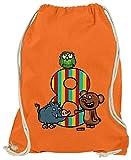 Hariz - Bolsa de deporte para niños, diseño de osito del bosque, 8 cumpleaños, naranja (Naranja) - AchterGeburtstag49-WM110-8-1