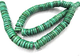8mm Natural Turquoise Stone Heishi Pinwheel Rondelle Blue Green White Turquoise Bead Necklace 16inch