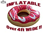 FOHOG Giant Donut Inflatable Pool Float Toys (Strawberry Pink Donut Pool Float Tube with Icing Frosting)