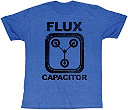 Back To The Future 1985 Comedy Action Movie Flux Capacitor Adult Blue T-Shirt