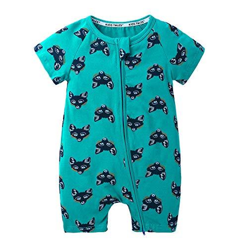 Schlafstrampler Schlafoveralls für Mädchen Schlafanzug Jungen Kleinkind Strampelanzug Baumwolle Sommer babyschlafanzug Baby Schlafsck mit Füßen
