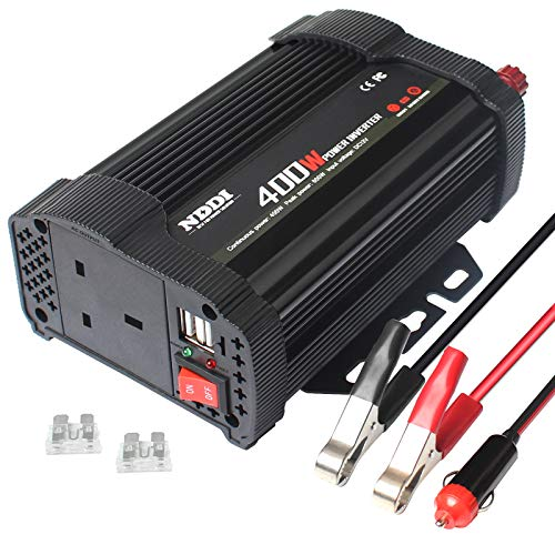 NDDI 400W Car Power Inverter, DC 12V to 230V AC Converter with a Charger...