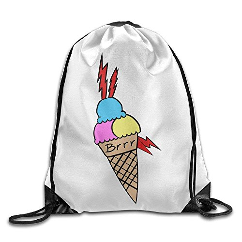 Estrange Gucci Mane Ice Cream Tattoo Drawstring Backpack Cool Sports String Bag