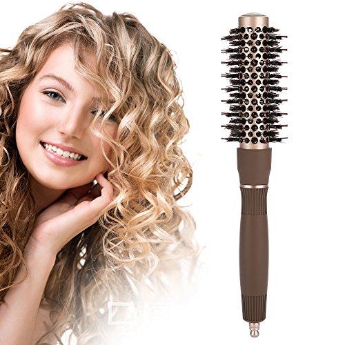 Rundbürsten, antistatischer Haarkamm Nano Thermal Ceramic & Ionic Hairdressing Brush Tool zum Trocknen, Stylen, Locken, Hinzufügen von Haarvolumen und Glanz(25#)