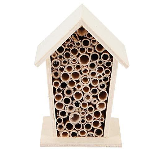 Holz Insekten Insekten Bienenhaus, Holz Bienenhaus Holz Shelter Nistkasten für Gartendekoration im Freien
