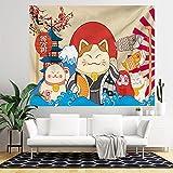 NC153 Tela de Fondo de Estilo japonés para el hogar Tapiz Decorativo de Tela Colgante Dormitorio Tela de Pared Decorativa 150 × 100 cm