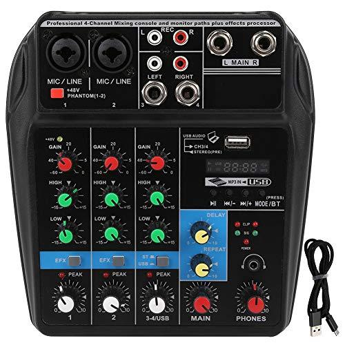 Con una tarjeta de sonido Mezclador de audio de 4 canales,
