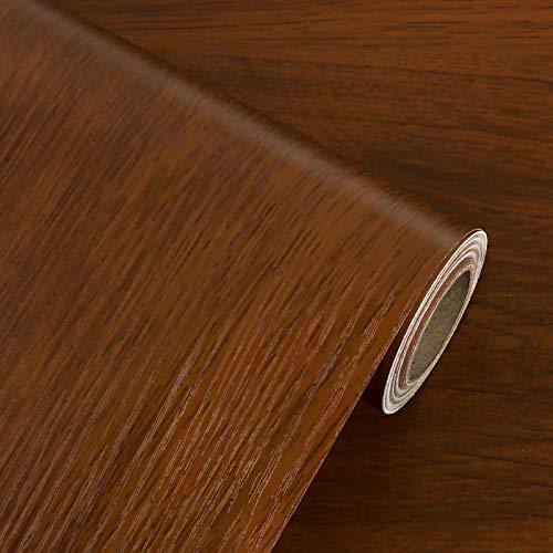 LIKILIKI Papel pintado de madera para dormitorio, cocina moderna, papel de contacto rojo, autoadhesivo, impermeable, extraíble,...