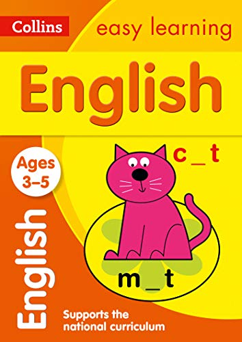 English Ages 3-5: Prepare for school with easy home learning (Collins Easy Learning Preschool)