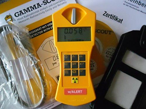 Gamma-Scout Geigerzähler mit Alarm und Ticker Strahlenmessgerät + Gürteltasche +Software
