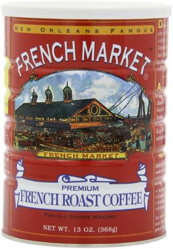 French Market Coffee French Roast 12 Ounce Cans Pack of 3 product image
