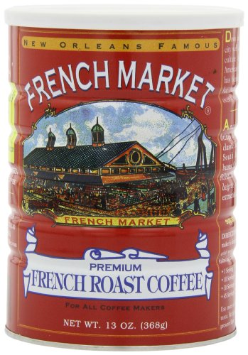 French Market Coffee, French Roast, 12-Ounce Cans (Pack of 3)