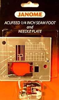 Janome Acufeed 1/4 inch Seam Foot and Needle Plate