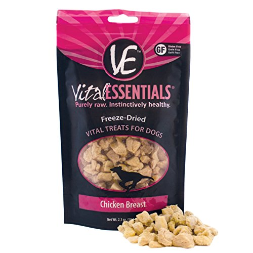 Vital Essentials Freeze-Dried Chicken Breast Treats for Dogs 2.1 Ounce
