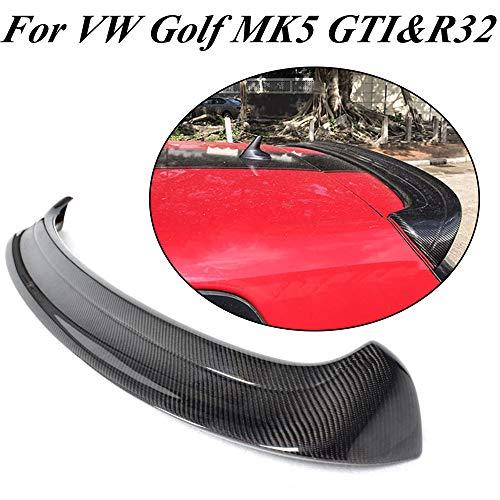 JCSPORTLINE Für Golf 5 V MK5 GTI & R32 2005-2009 Carbon Faser Kohlefaser Tuning Heckspoiler Dachspoiler Heckspoilerlippe Tuning Spoiler