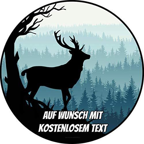 Tortenaufleger Geburtstag Tortenbild Zuckerbild Oblate Motiv: Hirsch im Wald (Oblatenpapier)