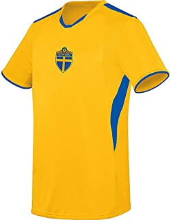 Sweden Blågult Soccer Licensed Logo Jersey (Custom Name/Number or Blank Back)