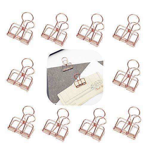 Cratone 120 St/ück FoldBack Klemmen Papier Metall Binder Clips B/üroklammern Vielzweckklammern f/ür Notizen Briefpapier Clip B/ürobedarf 6 sortierte Gr/ö/ßen schwarz