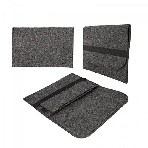 eFabrik Schutz Tasche für Acer Pro 7 2in1 Entertainment Edition Aspire Switch 10 E Hülle (10.1 Zoll) Pro7 ProSieben Filz Sleeve dunkelgrau