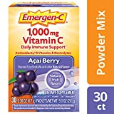 Includes 30 single-serving packets (0.30 oz. each) of Emergen-C Original Formula in Acai-Berry flavor Each serving provides daily immune support* with more Vitamin C than 10 oranges(1) Also contains B Vitamins, Electrolytes, and other Antioxidants li...