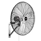 OEMTOOLS 30 Inch High-Velocity Indoor Oscillating Wall Mount, New Model Commercial Fan, Black