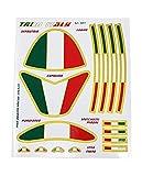 4R Quattroerre.it 5001 Kit Decoraciones Tricolore Italia Adhesivos para Moto, 13,5 x 16 cm
