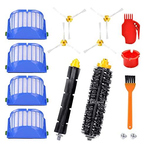 CML Kit de Accesorios de reemplazo Fit para Irobot Roomba 600 Series 675 690 680 671 652 650 620 614 595 Vac Parts Filters Hepa Pinceles Laterales