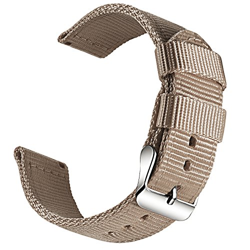 OLLREAR Nylon Correa Reloj Lienzo Correa Relojes Militar del ejército - 13 Colors & 4 Sizes - 18mm, 20mm, 22mm, 24mm