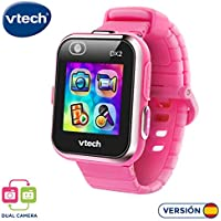 VTech 193857 Kidizoom Smart Watch DX2 - Reloj inteligente para niños con doble cámara, color rosa