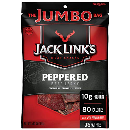 Jack Link's Beef Jerky, Sweet & Hot, 5.85 oz. Sharing Size Bag – Meat Snack with Sweet Seasonings & Hot Spices, 9g of Protein, 80 Calories, Made with Premium Beef, No added MSG or Nitrates/Nitrites