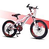 Mountain Bike 6-12 Anni Bicicletta per Bambini Mountain Bike da 20 Pollici 21 velocità/Doppio Freno A Disco/Shock