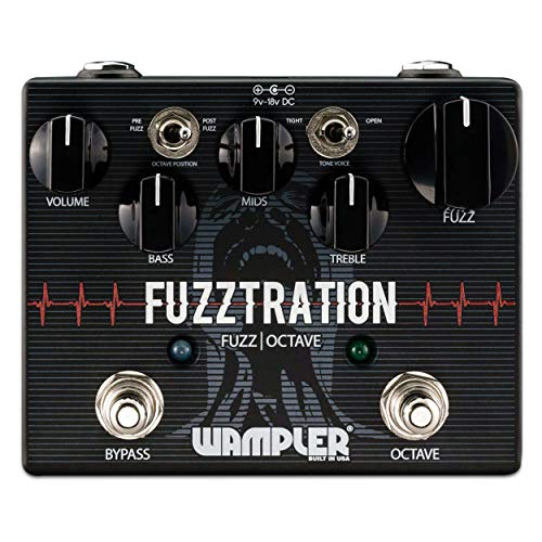 Wampler Fuzztration Fuzz & Oktave Effektpedal für Gitarren