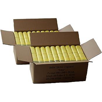 650 Abfallsäcke mit Zugband Gelber Sack 90 Liter 50 Rollen Müllbeutel Müllsack