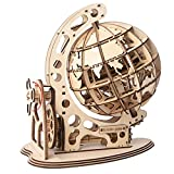 Wanvkee 3D Wooden Globe Mechanical Puzzle, Self-Assembling Pre-Cut DIY Brain Teaser Puzzles, Educational Toy Fun Project for Adults and Kids