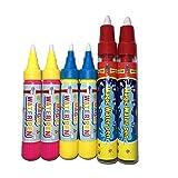 Artibetter Plumas de agua de reemplazo Plumas Doodle Plumas de dibujo para niños Aqua Doodle Estera de dibujo 6 piezas
