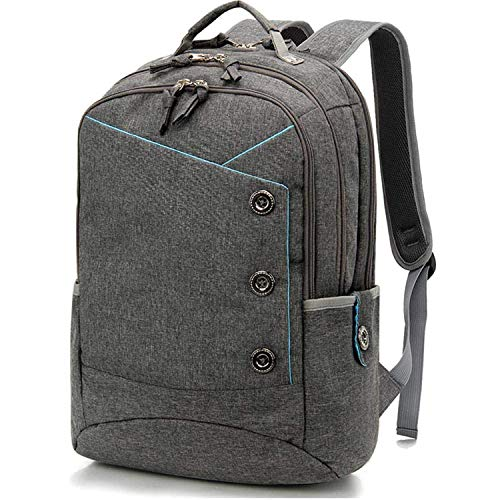 15.6 inch Laptop Backpack for Women College Student Computer Bag Daypack Men School Bag Casual Commute Bag Gray