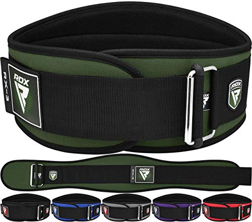 RDX Sollevamento Pesi Cintura Palestra per Powerlifting 6  Neoprene Lombare Cintura per Bodybuilding, Schiena Allenamento della Forza, Fitness, Muscoli, Deadlifts Workout Squat
