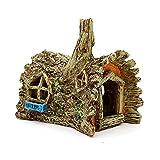 URNOFHW Accesorios de decoración de Acuario Casa de Resina Artificial Refugio Cueva Reptil Agujero Pecado Tanque de Paisajismo Adornos Decoración del Paisaje (Color : House)