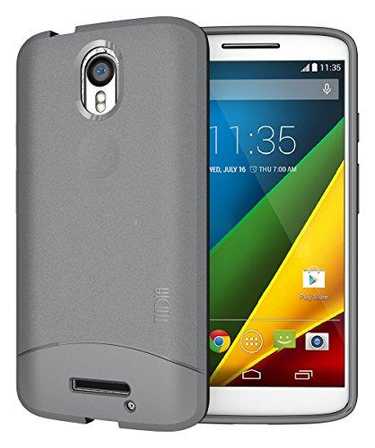 TUDIA Arch TPU Schutzhülle Motorola Droid Turbo 2 (Verizon) / Moto X Force (2015) Ultra Slim Hülle (Grau)