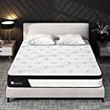 King Size Mattress, Avenco King Mattress Firm, 10 Inch Hybrid King Mattress in a Box, 5 Zone Pocket Innerspring and Memory Foam, Edge Support and Back Pain Relief, CertiPUR-US, 100 Nights Trial