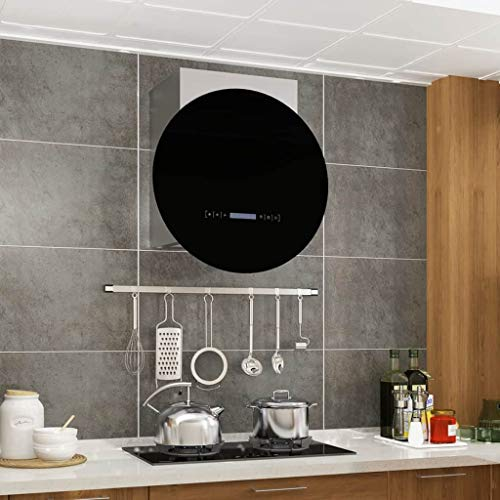 Festnight Wand-Dunstabzugshaube | Wandhaube | Abzugshaube | Edelstahl 756 m³/h 30 cm | LCD-Display, Touch-Sensor, 3 Leistungstufen, Abluft und Umluft, LED