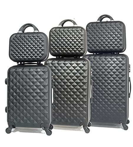 Lote de 3 maletas con su 3 Vanity Sólido, marca francesa.