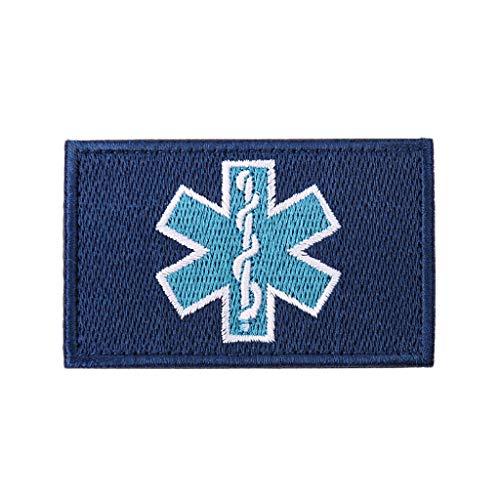 zrshygs Parche de Bordado Técnico de emergencias EMT Insignia de Brazalete de Moral táctica - Azul