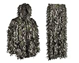 Youth Teens Kids 3D Leafy Ghillie Boys Camouflage Hunting Suit Woodland Green Camo Jacket Hood Pants