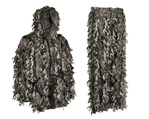 Youth Teens Kinder 3D grünen Ghillie Camouflage Jagd Anzug Wicked Woods Camo Jacke Kapuze Hose