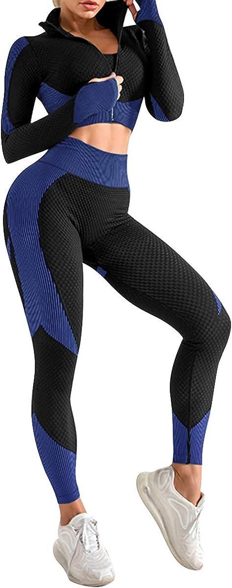 JOYMODE Workout Sets for Women 2 Seamless Piece Textured Wa Max 82% OFF El Paso Mall High