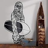 Hollywood Sci-Fi Comics Filmfigur Star Chewbacca Surfing Wars Wandaufkleber Vinyl Aufkleber...