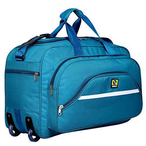 Sibia - Borsone da viaggio impermeabile unisex in poliestere, 40 litri, con ruote a rullo, colore: Blu