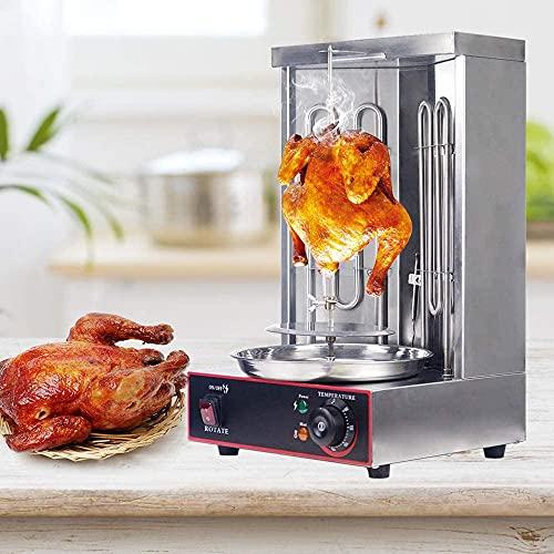 TTLIFE Parrilla de Pollo asado Profesional/Pollo asado casero/Máquina de Pollo asado de Restaurante/Máquina de Kebab eléctrica Doner, Pollo asado de Acero Inoxidable 50-300 ° C